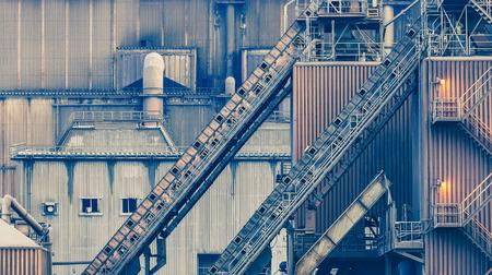 Close - up Industrie gebouw voor de industrie begrip gebruik Stockfoto