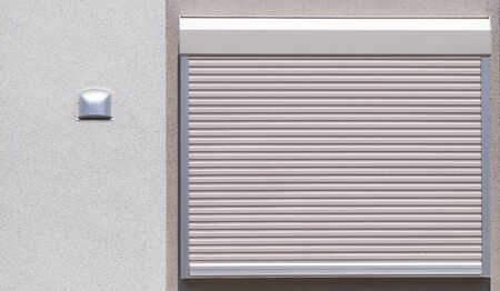 White metal roller window shutter background and texture