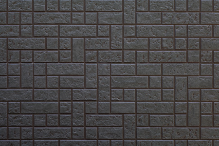 Black modern wall tile background and texture photo