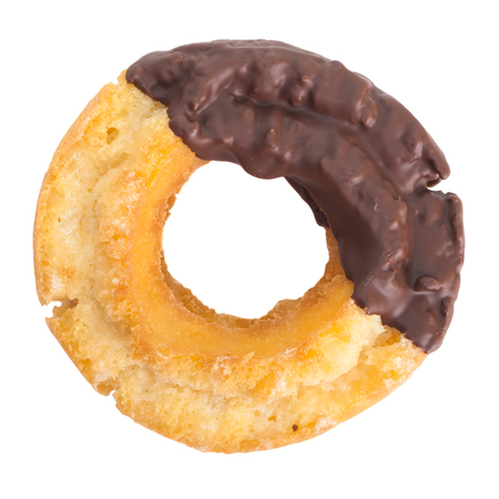 Old fashion donut isolated on white background photo