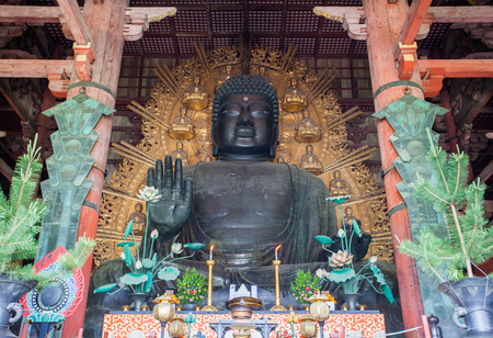 Daibutsu in the Daibutsu-den at Todaiji Temple in Nara