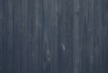 Black wood fence texture and background seamless Stock Photo