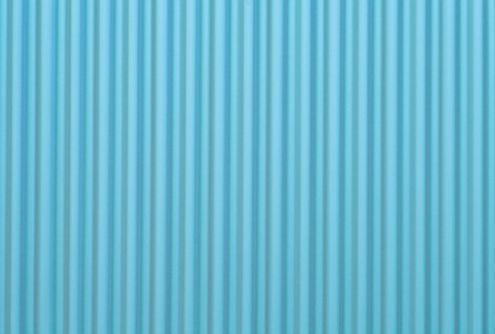 Blue corrugated metal background and texture surface photo