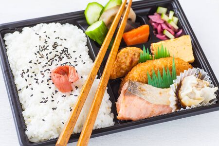 take time out: Traditional bento japanese cuisine a singleportion takeout or homepacked meal