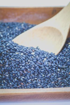 sesame seed: Black dry sesame seed , a common ingredient in cuisine