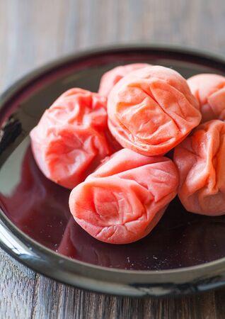 traditonal: Umeboshi  Japanese traditonal food salt plums or pickled plums