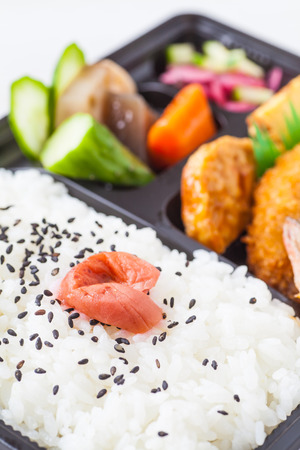 takeout: Traditional bento japanese cuisine a singleportion takeout or homepacked meal