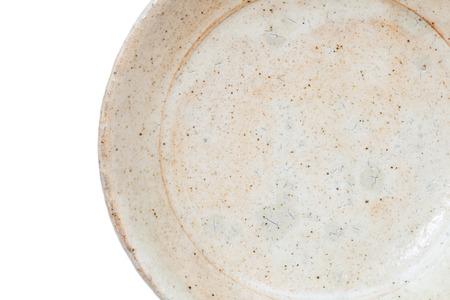 Celadon white ceramic isolated on white background