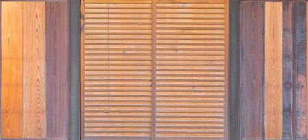sliding door: Detail of Japanese house wood sliding door