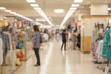 Abstract background of Department store interior , shallow depth of focus.