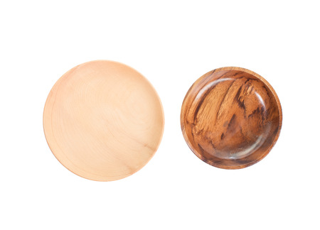 plato de comida: Placa de madera natural aislado en fondo blanco
