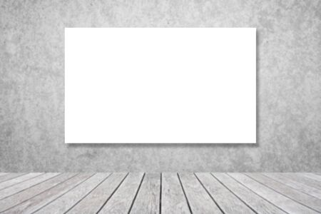 marcos decorativos: Abstract white square text box on blurred concrete wall background