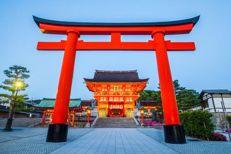 후 시미이나 리 신사, 교토 남부의 유명하고 중요한 신사 스톡 콘텐츠