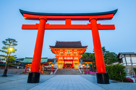 Fushimi Inari Shrine, Famous en belangrijke Shinto heiligdom in het zuiden van Kyoto, Japan