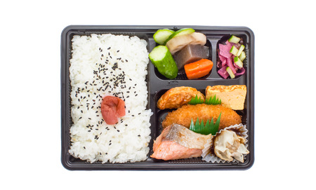 traditional food: Traditional bento japanese cuisine a single-portion takeout or home-packed meal