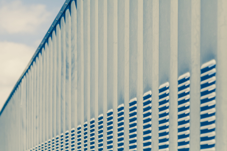 Perspective of Silver metal fence pattern  写真素材