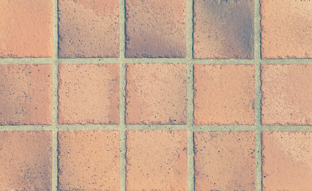 pavimento gres: Vintage pavimento terracotta marrone senza soluzione di sfondo e la trama Archivio Fotografico