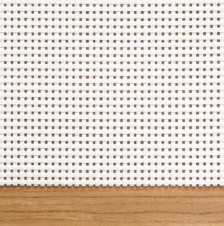 latticework: Oriental style white bamboo mat as striped background and texture