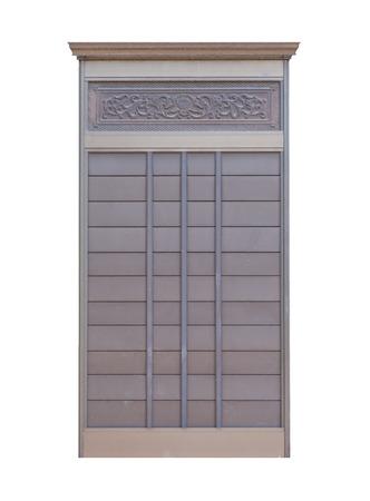 sliding door: Japanese house wood sliding door isolated on white background