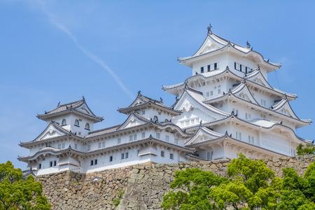 Het Kasteel van Himeji, een heuveltop Japans kasteel complex gelegen in Himeji, Hyogo Prefecture Redactioneel