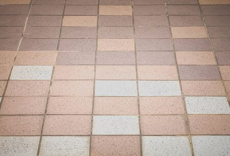 concrete block: Outdoor concrete block floor background and texture