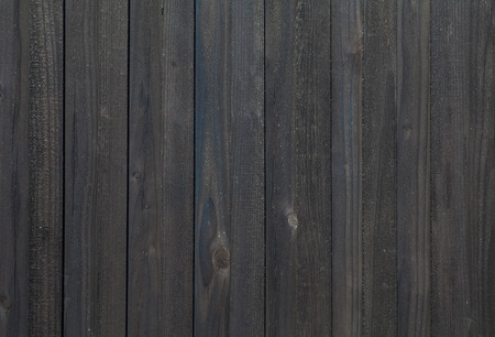 Black wood fence texture and background seamless Banco de Imagens