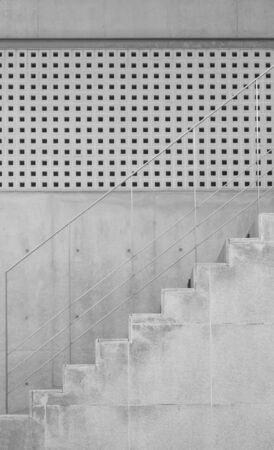 stone wall: Stair concrete and cement wall  in modern building Stock Photo