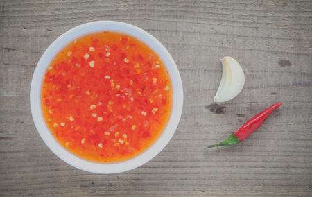 red chili pepper: Western cuisine sweet chili sauce made with red chili pepper