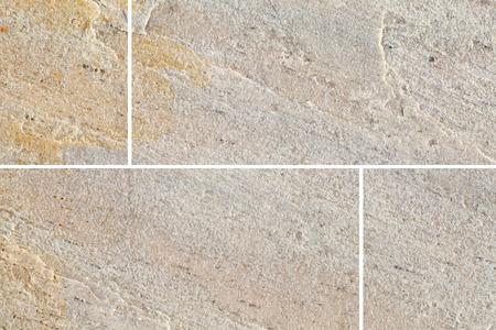 piso piedra: Marr�n baldosa de piedra de fondo sin fisuras y la textura Foto de archivo