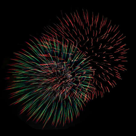 Colorful fireworks isolated on a dark background