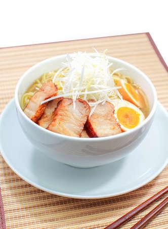 noodle soup: Traditional Japanese food ramen , Egg noodle soup