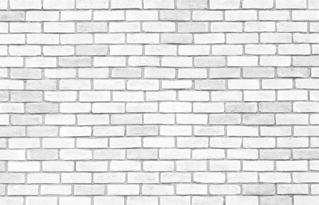 White brick wall texture and seamless background