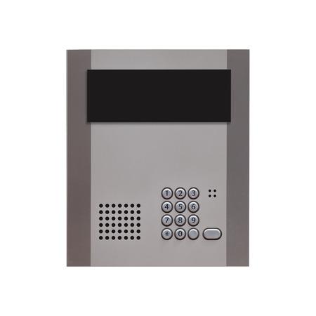 intercom: Security intercom number keypad at apartment door