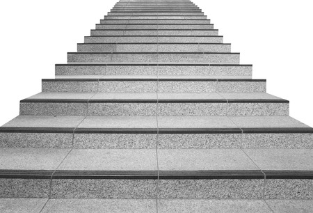 concrete structure: Long stair concrete isolated on white background