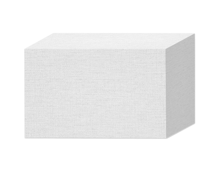 White paper box isolated on a white background