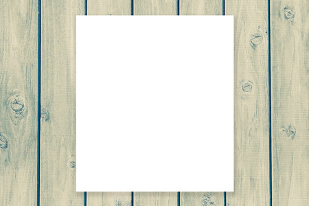 blank space: Blank space billboard on vintage wood wall background Stock Photo