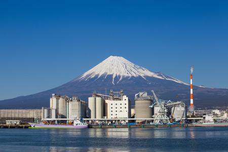 alpine zone: Mountain Fuji and Japan industry zone from Shizuoka prefecture Stock Photo