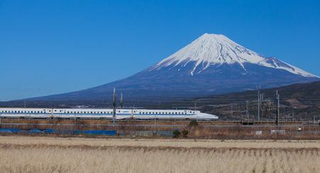 富士山と東海道新幹線、静岡県観