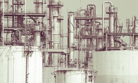 blurr: Close - up Oil refinery plant detail  in vintage tone edit