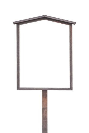 signboard: Blank asian traditional wood signboard isolated on white background