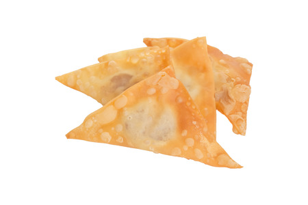 appetiser: Delicious  appetiser chinese cuisine deep fried wonton isolated on white background Stock Photo