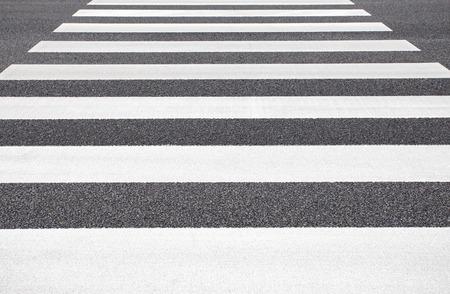 zebra crossing: Close - up zebra crossing from empty street Stock Photo