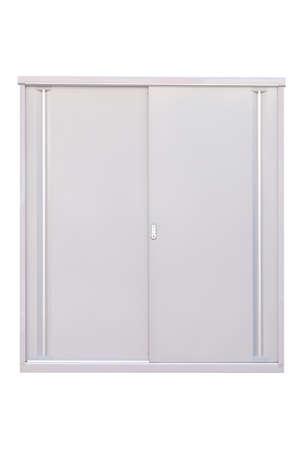 storage unit: Storage unit or small warehouse isolated on white background Stock Photo