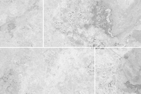 stone floor: White stone floor tile seamless background and texture Stock Photo