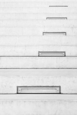 steps and staircases: Long outdoor concrete stairs at public park