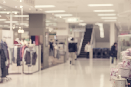 clothing shop: Abstract background of Department store interior , shallow depth of focus.