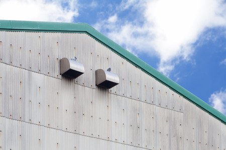 Close - up Wall and roof of factory warehouse