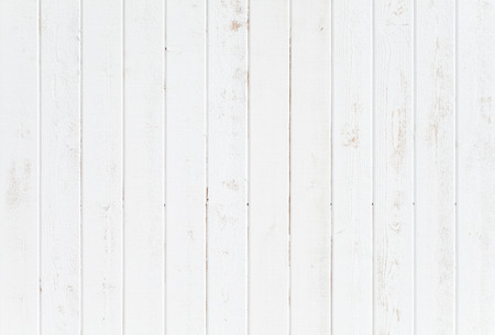 White natural wood wall texture and background seamless Archivio Fotografico
