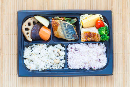 takeout: Bento, Single portion takeout or home packed meal in Japanese cuision