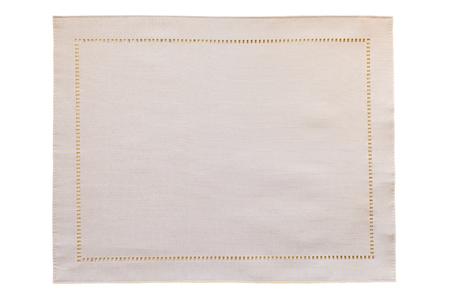 白い背景に分離された白いキャンバス クロス
